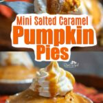 Easy No Bake Salted Caramel Pumpkin Pie