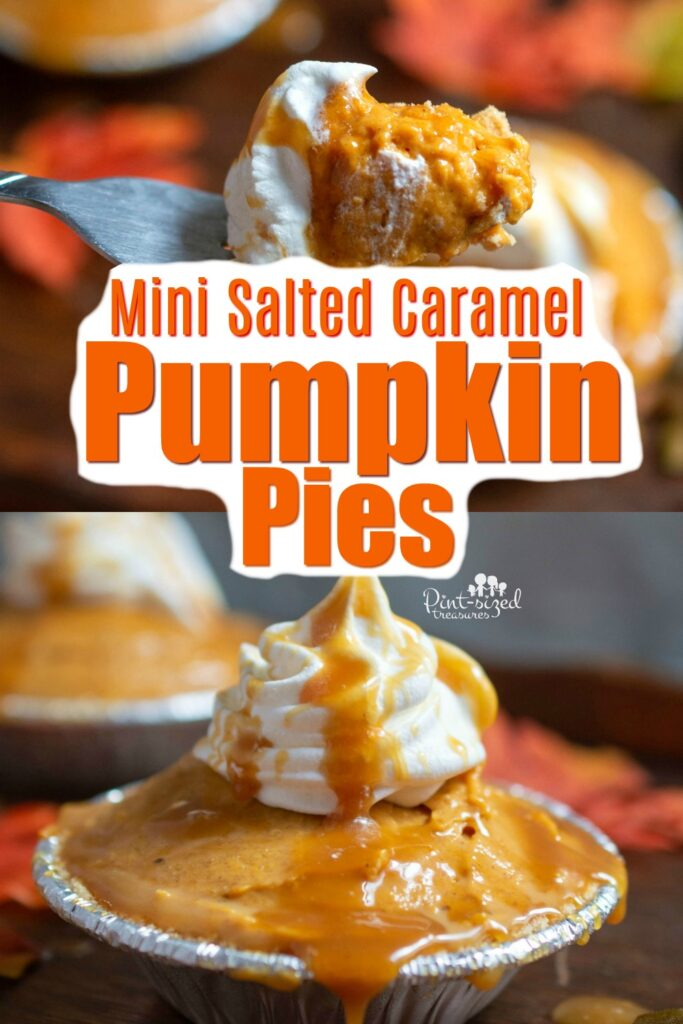 mini salted caramel no bake pumpkin pie recipe