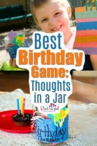 Birthday Game Thoughts in a Jar
