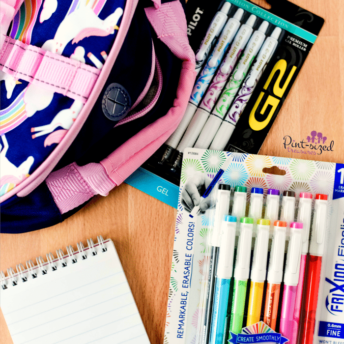 supplies for writing notes to kids
