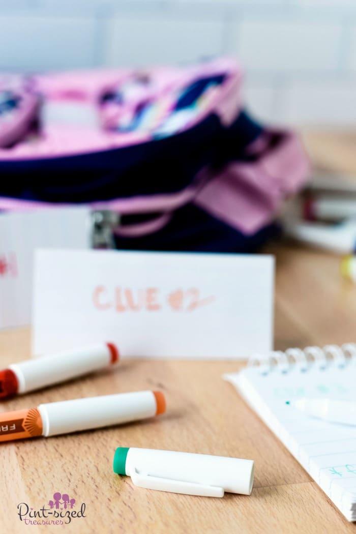 hand written notes to kids