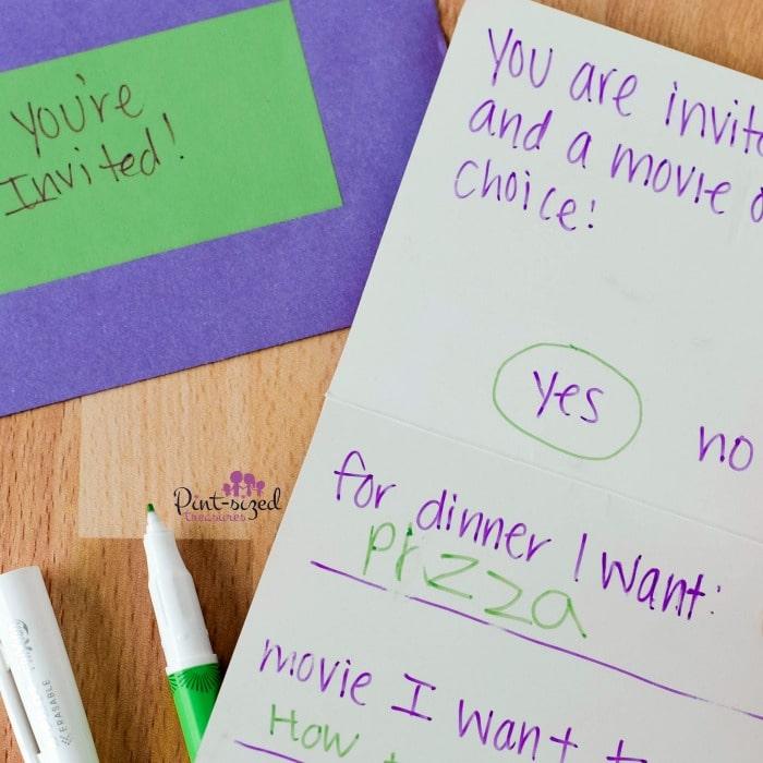 creative notes to write to kids