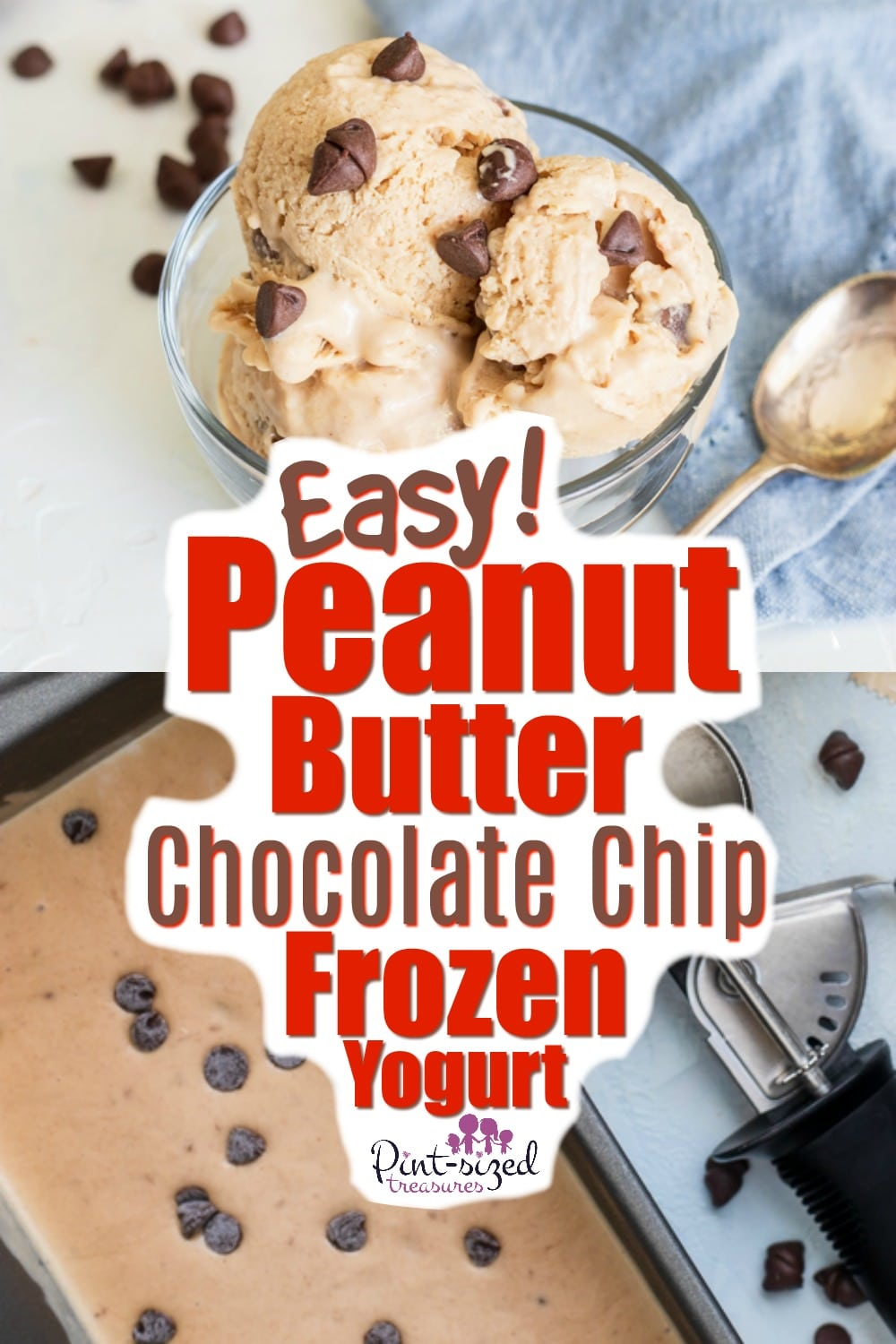 Easy Peanut Butter Chocolate Chip Frozen Yogurt Recipe