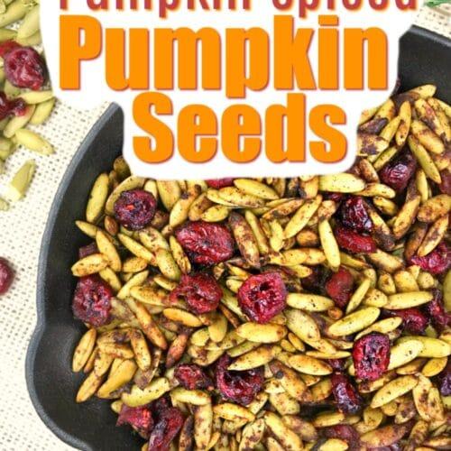 Easy Roasted Pumpkin Spice Pumpkin Seeds