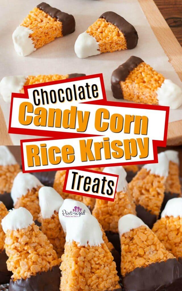 Chocolate Candy Corn Rice Krispie Treats Pint Sized Treasures