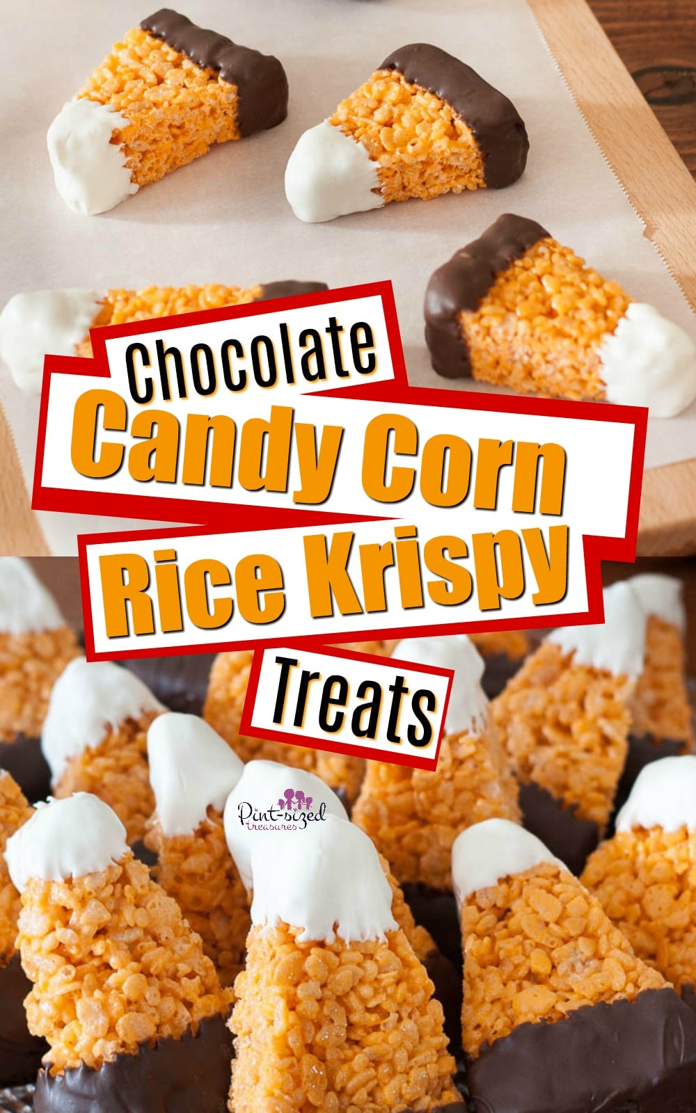 Chocolate Candy Corn Rice Krispie Treats Pint Sized Treasures