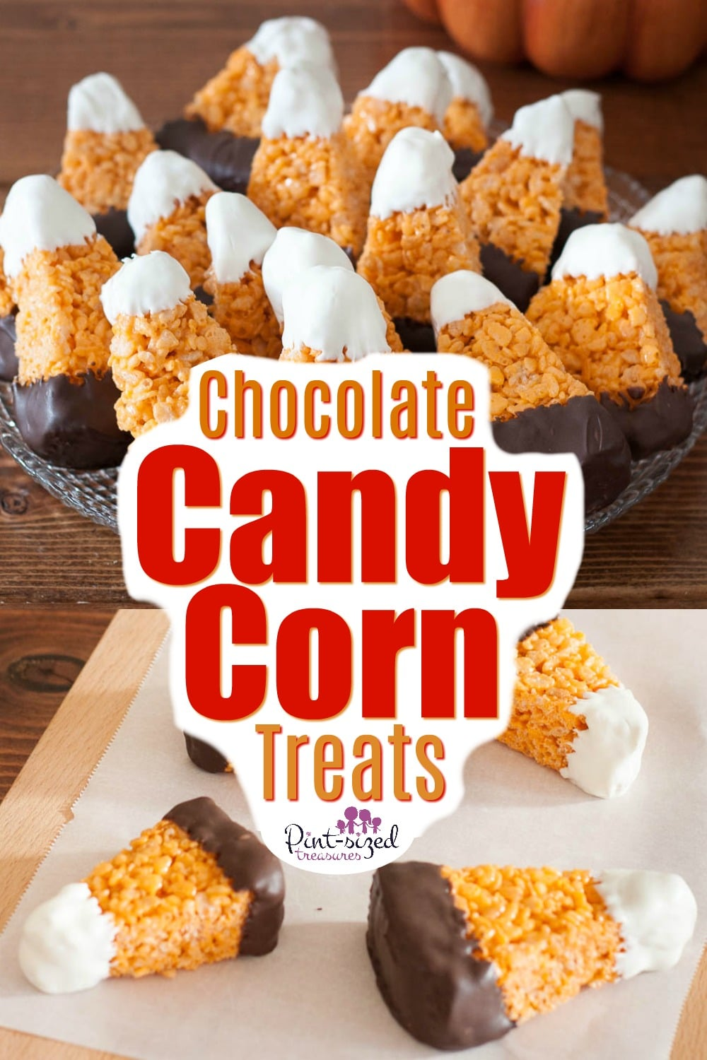 Chocolate Candy Corn Rice Krispy Treats Recipe