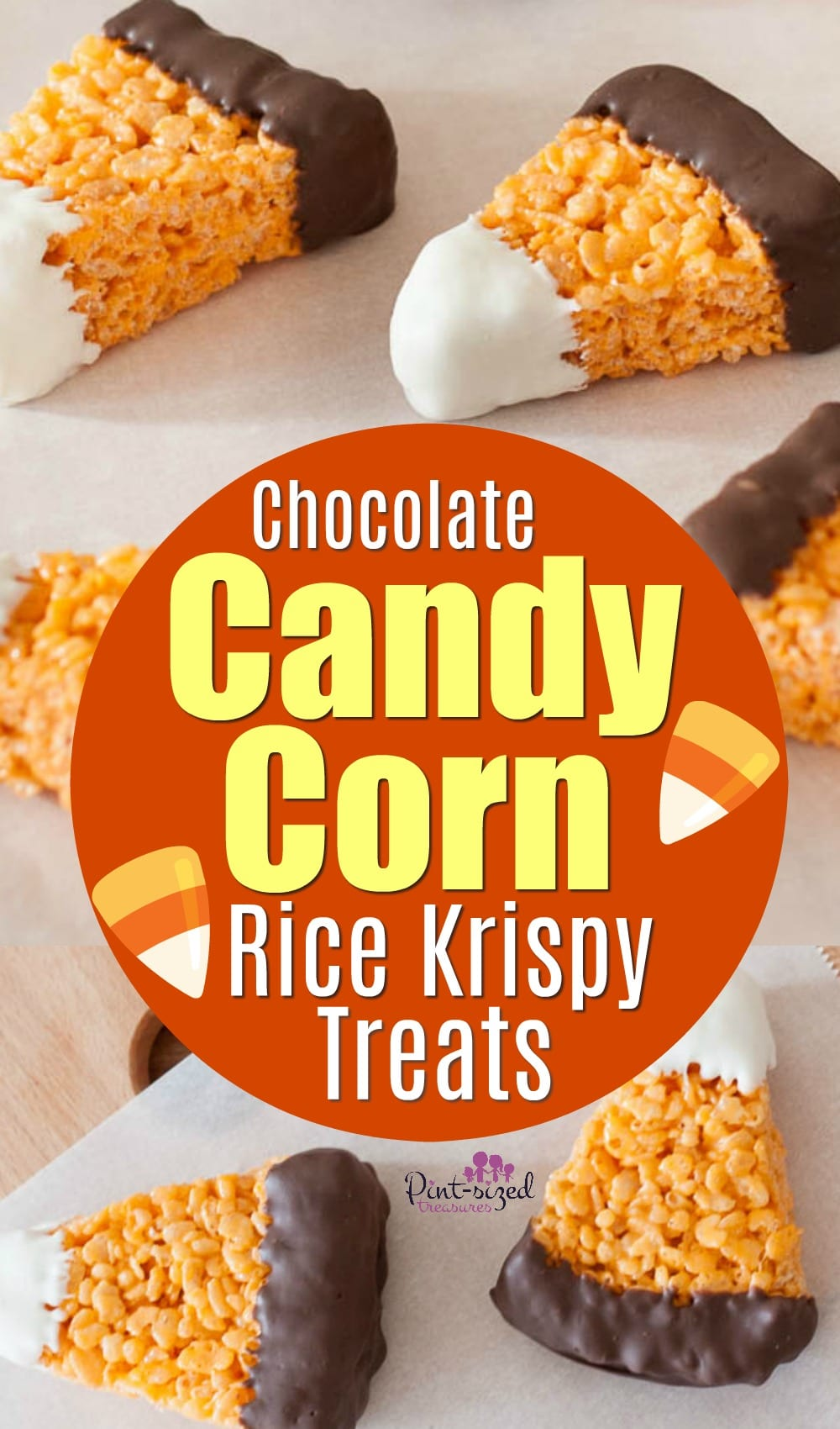 Chocolate Candy Corn Rice Krispie Treats Recipe