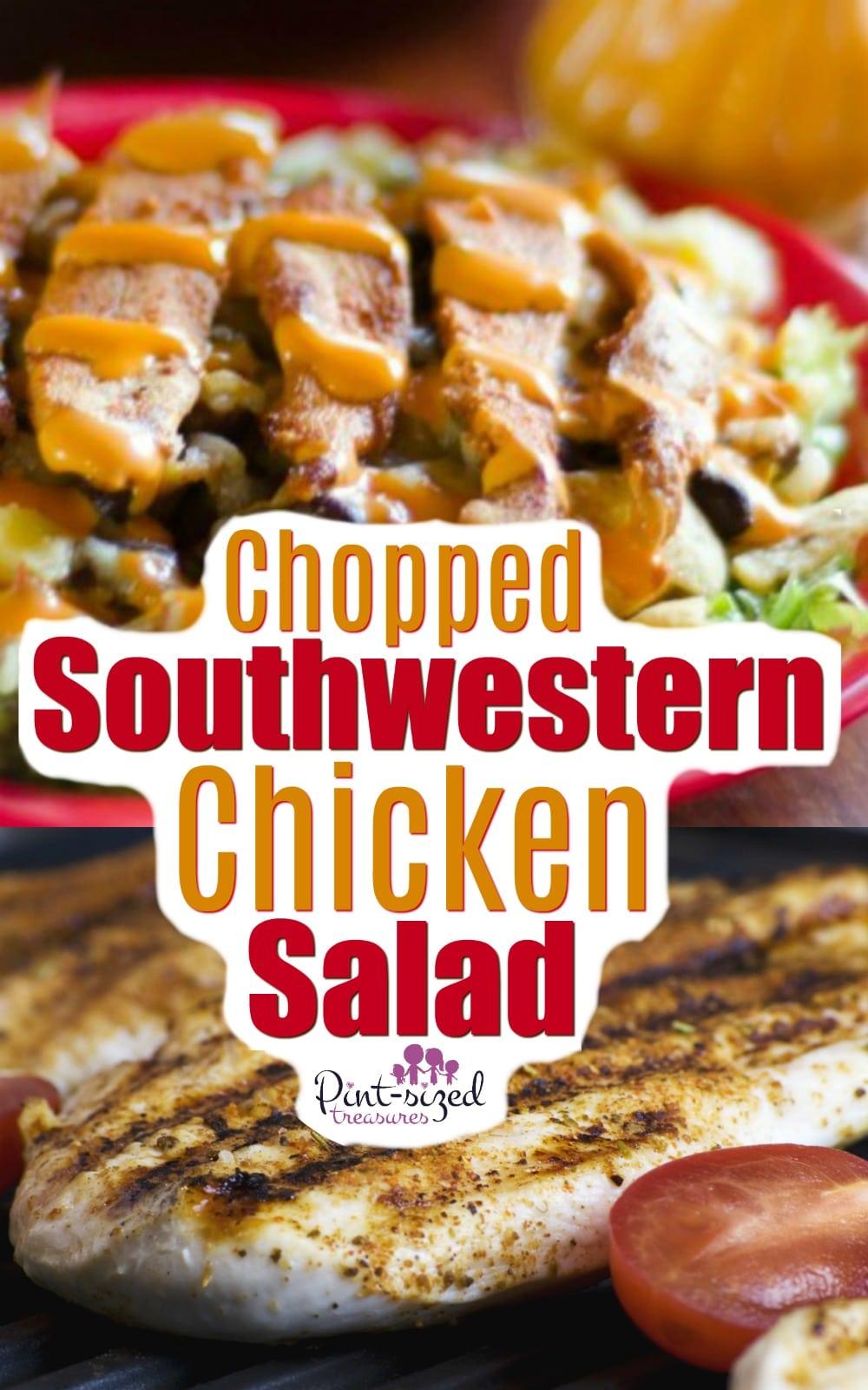 Easy Southwestern Chopped Chicken Salad Recipe