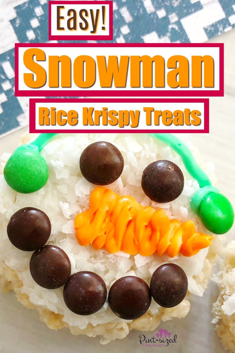 Easy Snowman Rice Krispy Treats