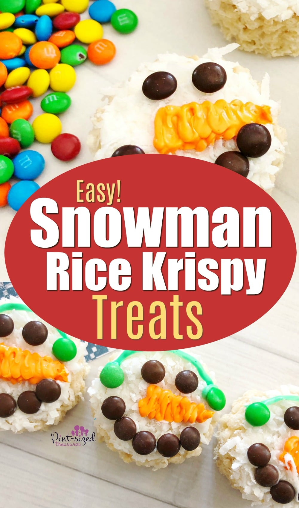 Snowman Rice Krispie Treats Recipe