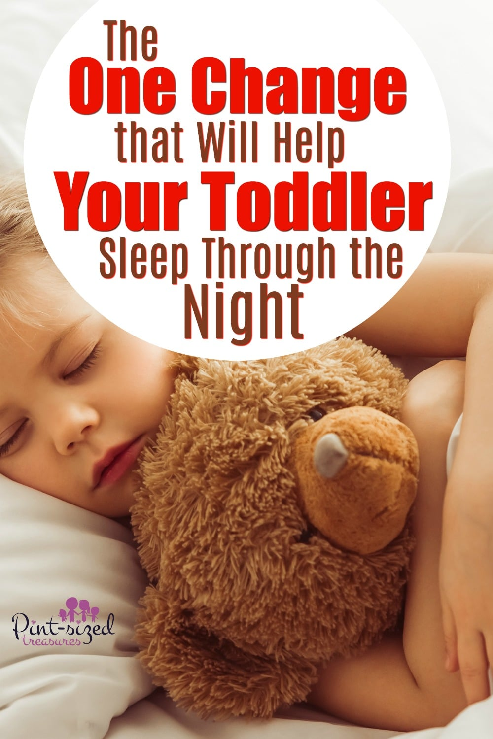 One change that helps toddlers sleep through the night
