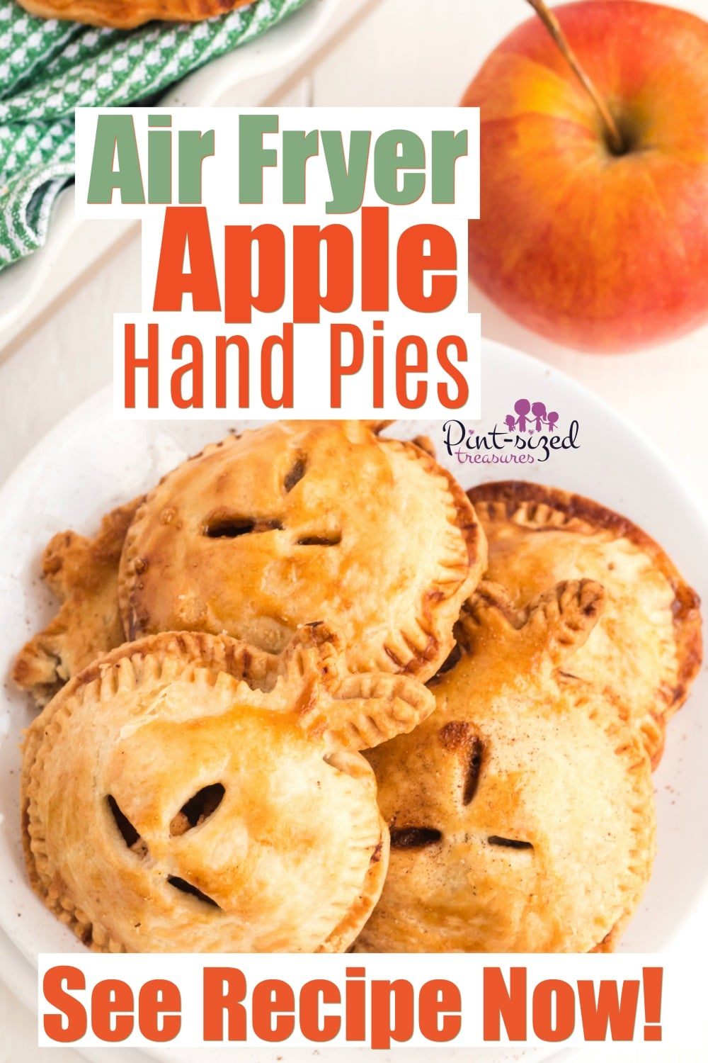 Air fryer hand pies with apple filling