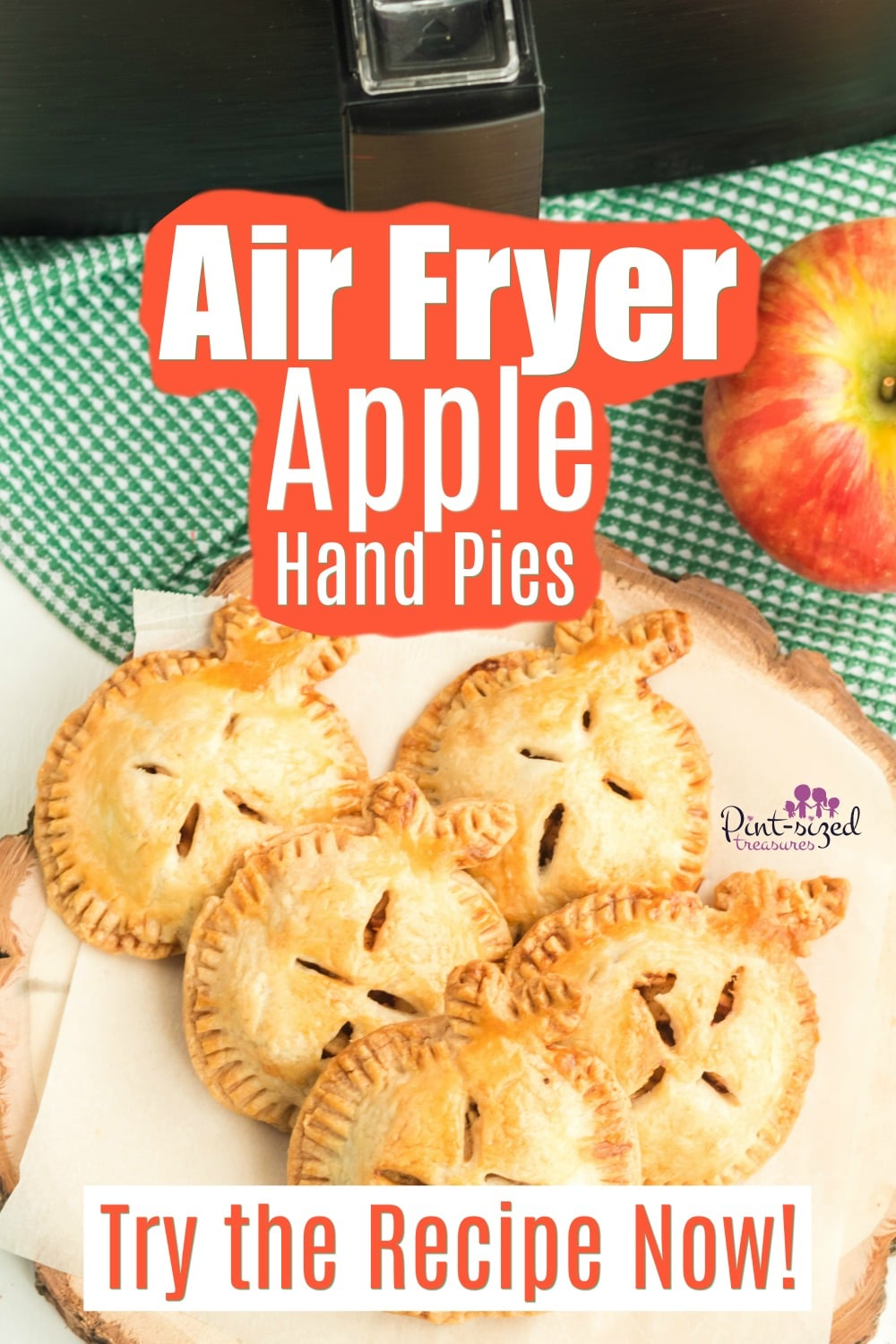Apple Hand Pies that are made in the Air Fryer are Seriously Easy!