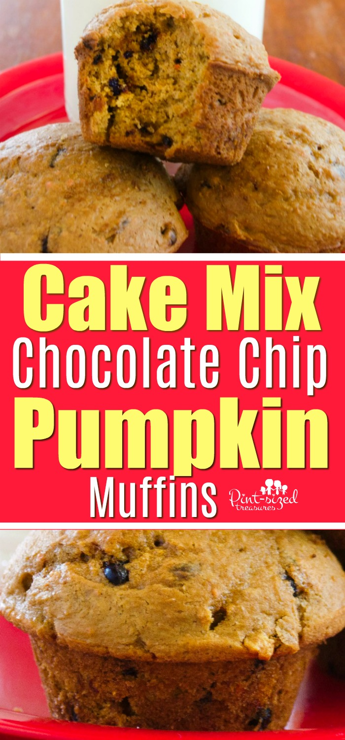 Easy cake mix chocolate chip muffins recipe