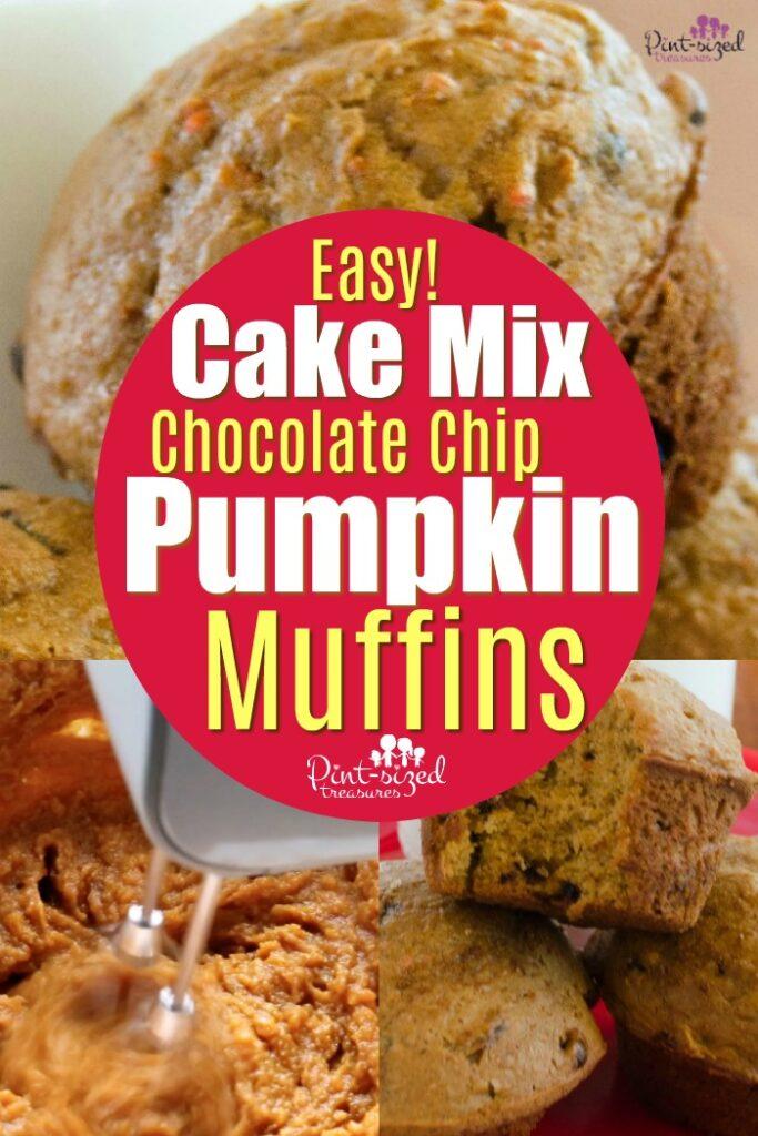 Cake Mix Chocolate Chip Pumpkin Muffins