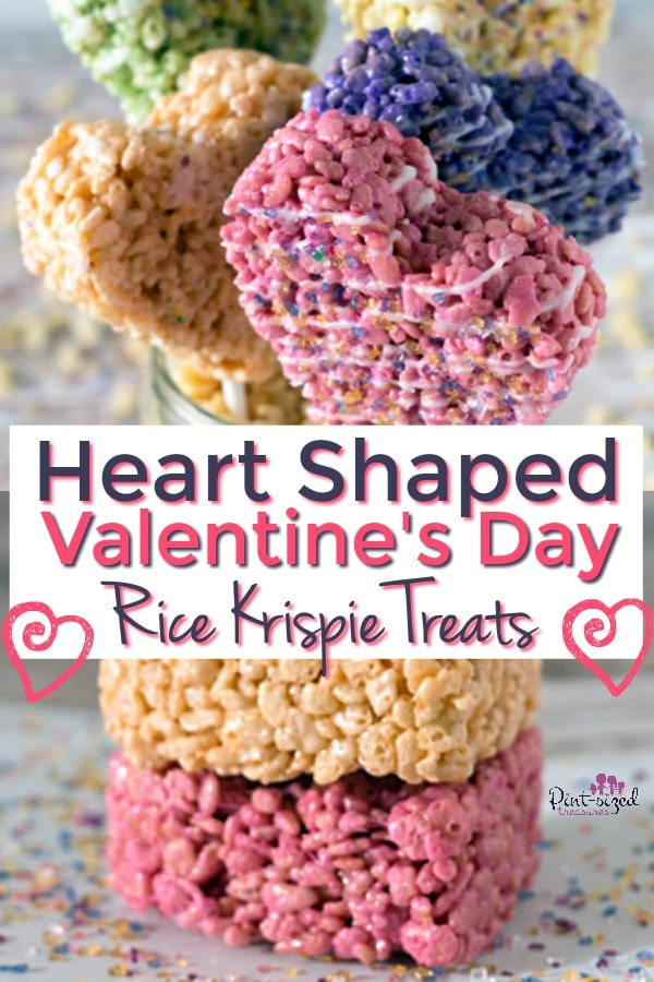 Heart-shaped Rice Krispie Treats Easy Recipe