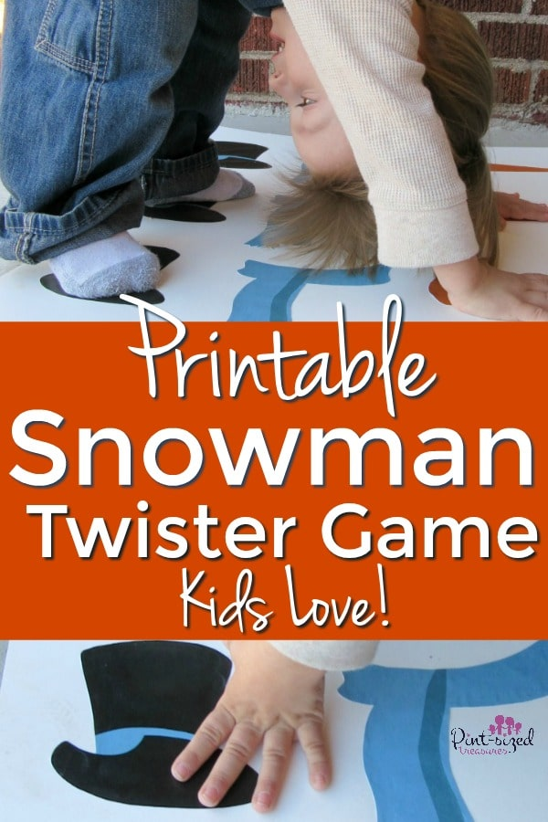 Printable Snowman Twister Game