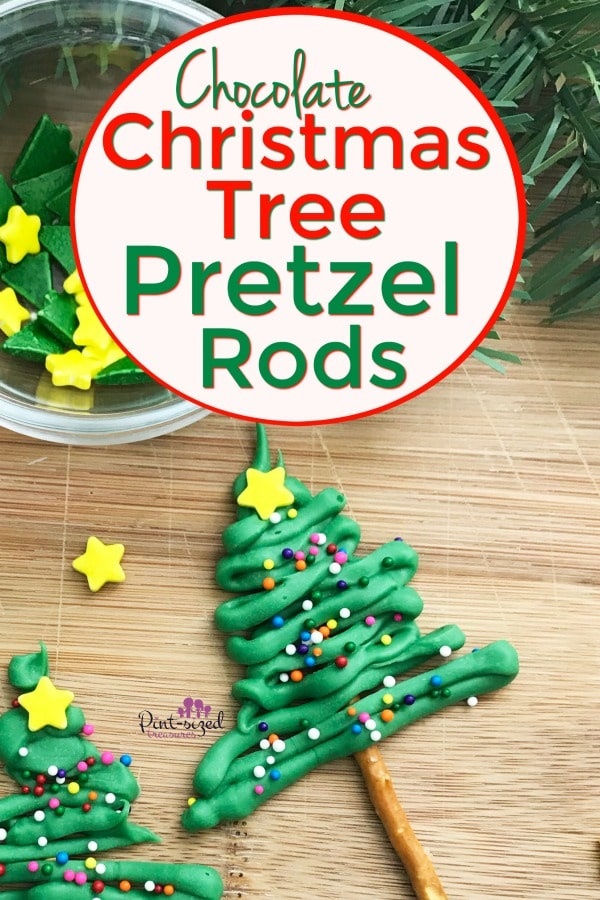 Easy Christmas Tree Pretzels