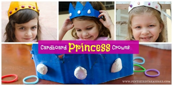 Princess crowns used for pretend dress-up