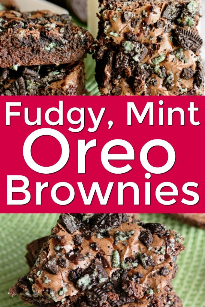 Fudgy Mint Oreo Brownies