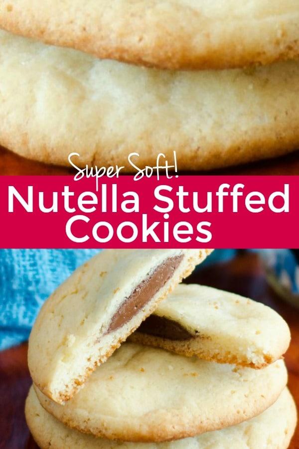 Nutella Stuffed Cake Mix Cookies