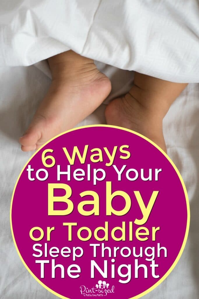 how to help babies and toddlers sleep through the night