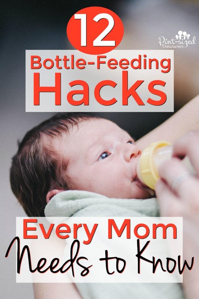 baby bottle-feeding hacks