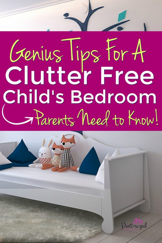 Tips for a clutter-free child's bedroom