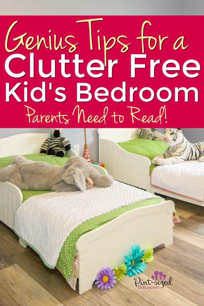 Cluttter free bedroom tips