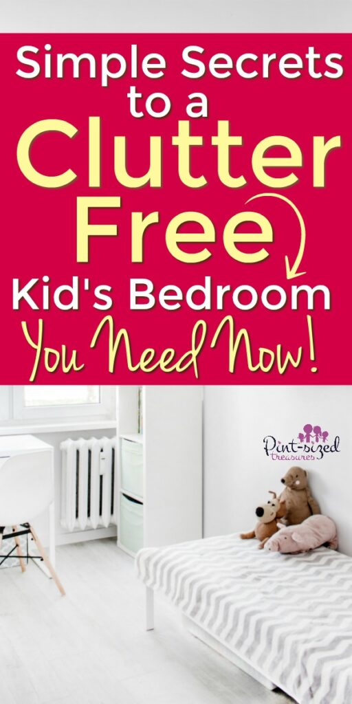 Clutter free kids room