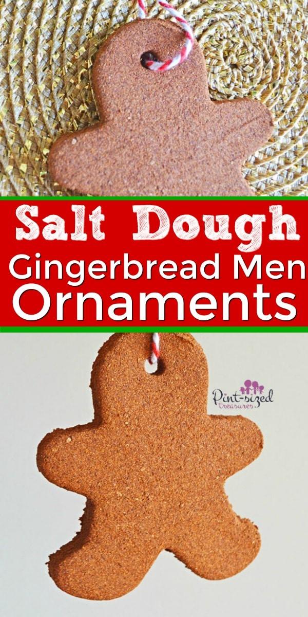 salt dough gingerbread men ornaments