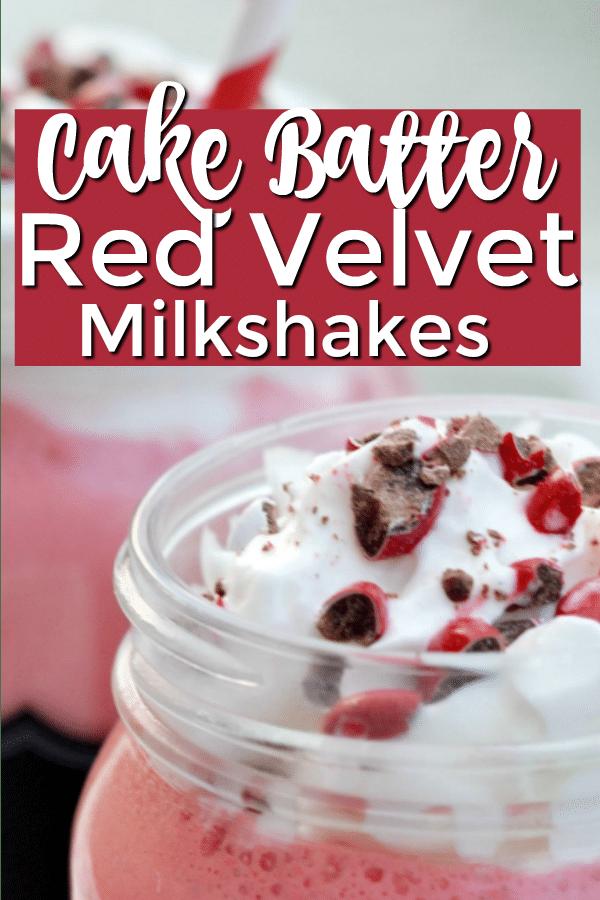red velvet cake batter milkshakes