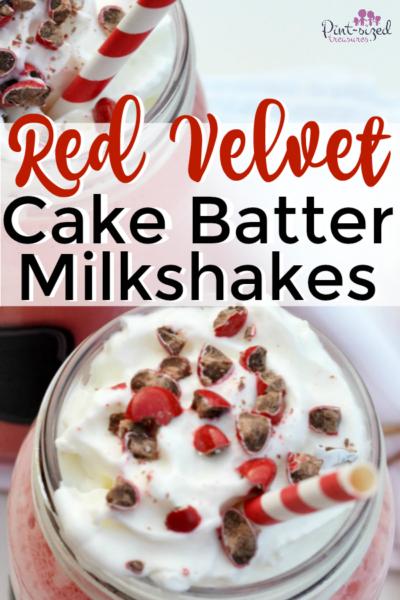 Red Velvet Cake Batter Milkshake