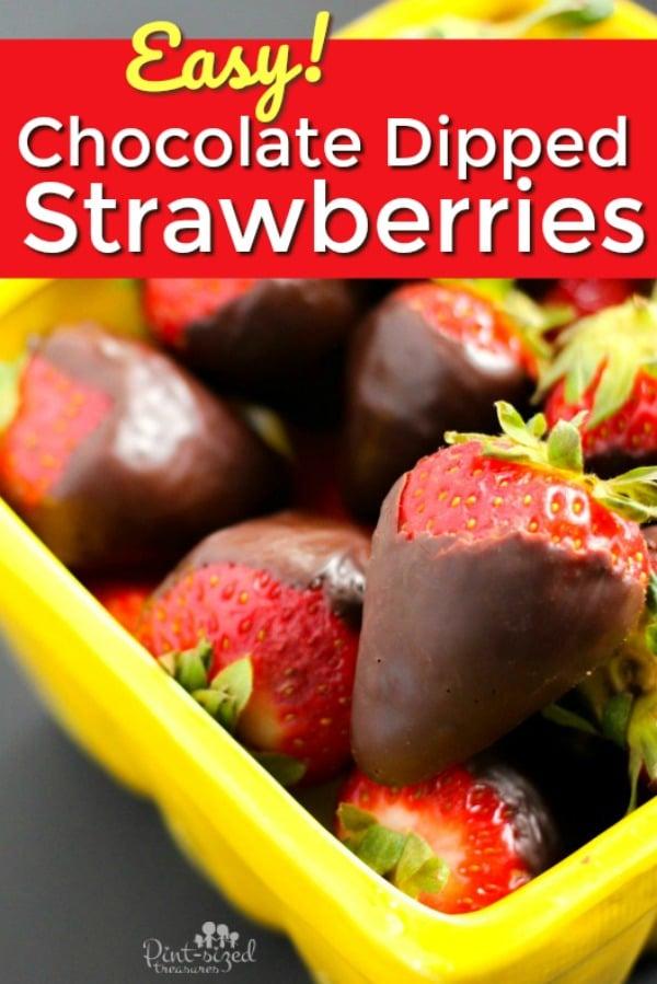 Chocolate dipped strawberries recipe