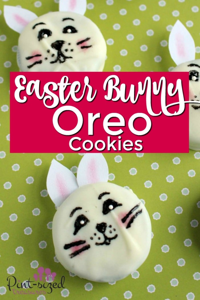 Easy, Easter Bunny Cookies Made from Oreos