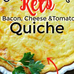 Keto Crustless Bacon and Tomato Quiche