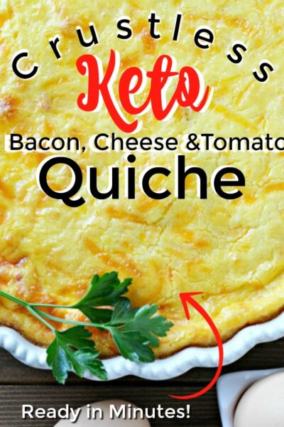 Keto Crustless Bacon and Tomato Quiche