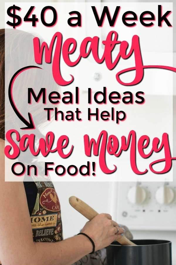 How to Save Money on Groceries: Feed Your Family on a Tight Budget with these $40 Per Week Meaty Meal Ideas!