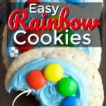 Easy Rainbow Sugar Cookies