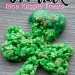 Easy Shamrock Rice Krispie Treats Recipe