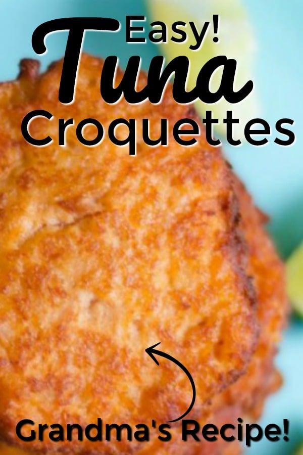 Tuna croquette recipe