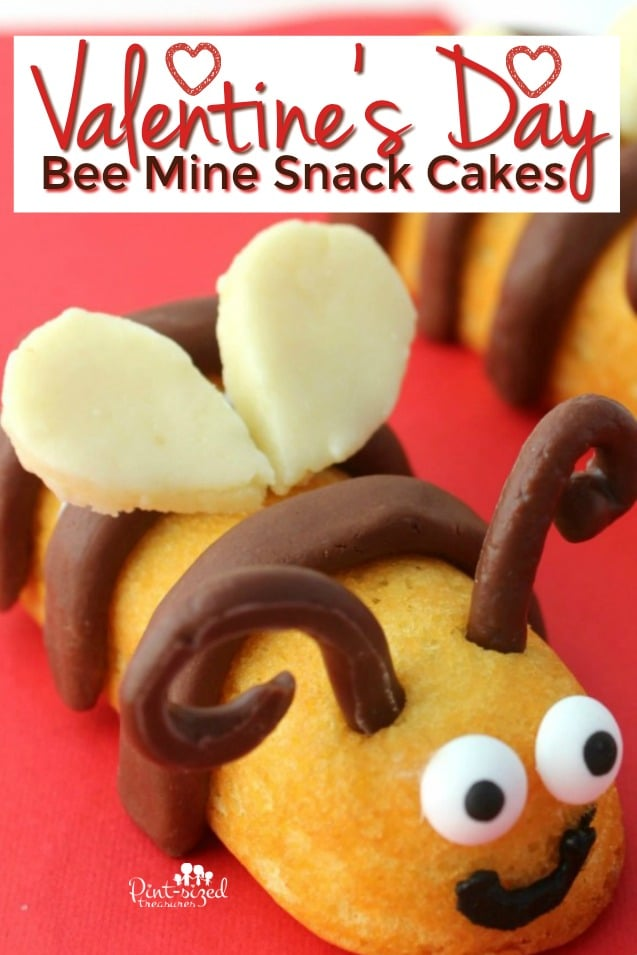 Valentine's Day Bee Mine Snack Cakes
