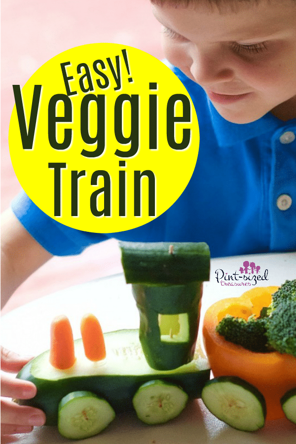 Veggies Tray Idea: Make a Veggie Train