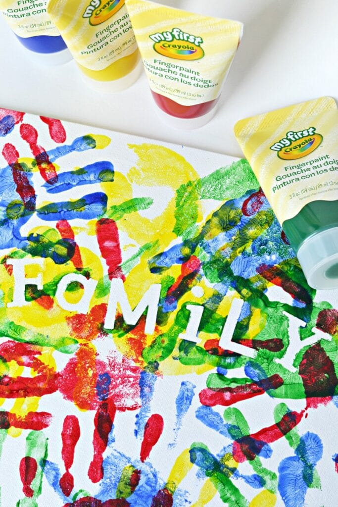 fingerpainting is a great indoor activity  for kids