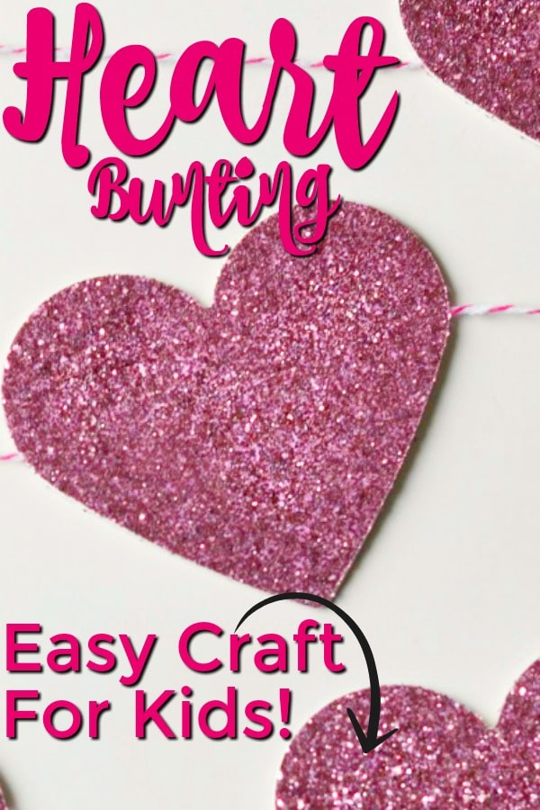 heart bunting craft for kids