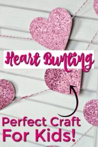 Heart bunting craft