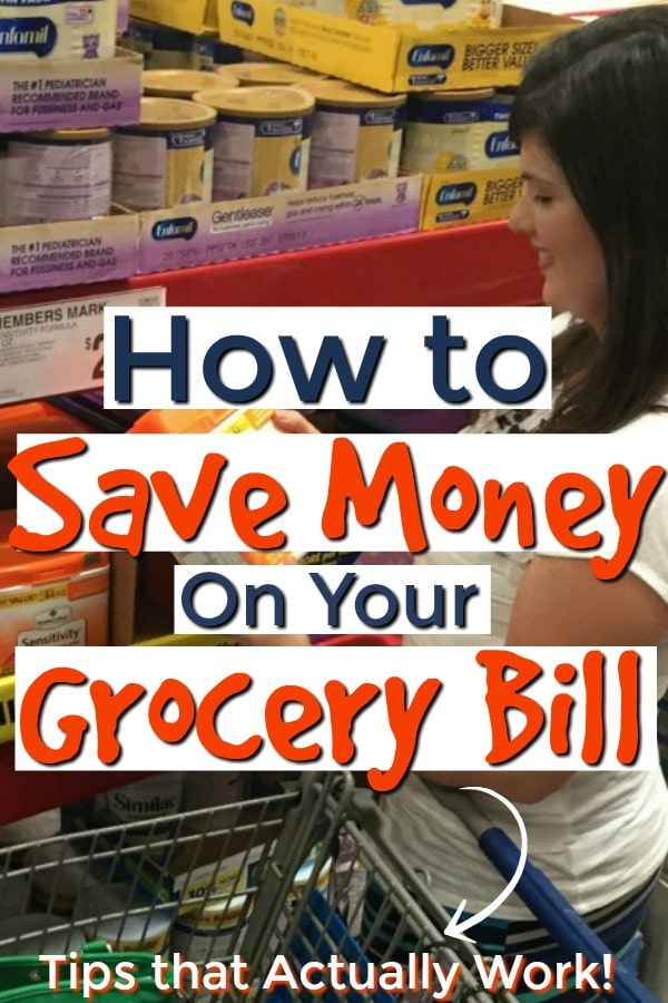 shopping and saving money on groceries