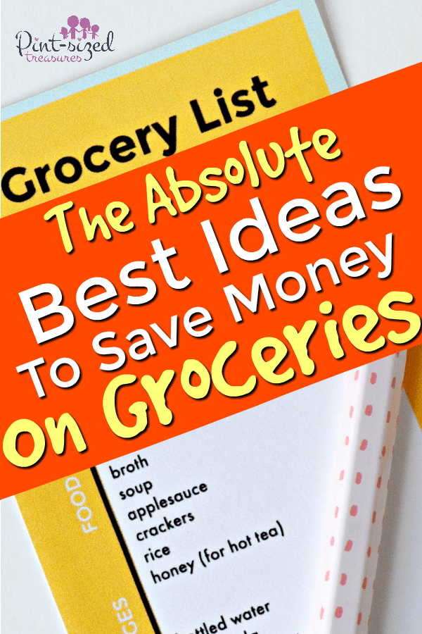 grocery list that helps save money on groceries