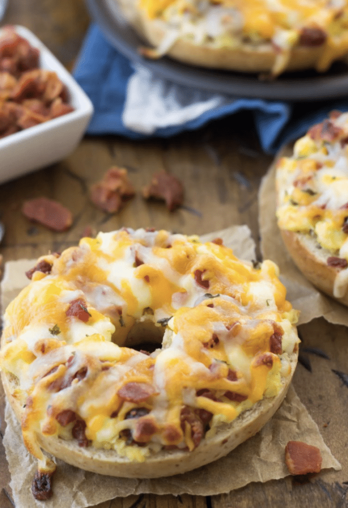 freezer friendly breakfast bagels